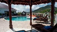 cool pergola of Saint Barth Villa Rising Sun holiday home, luxury vacation rental