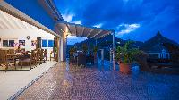 cool lanai of Saint Barth Villa Rising Sun holiday home, luxury vacation rental