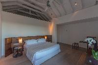 clean bedroom linens in Saint Barth Villa Sereno 2 luxury holiday home, vacation rental