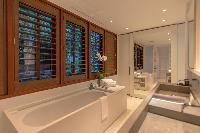 pristine bathtub in Saint Barth Villa Sereno 2 luxury holiday home, vacation rental