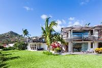 cool garden of Saint Barth Villa Sereno 2 luxury holiday home, vacation rental