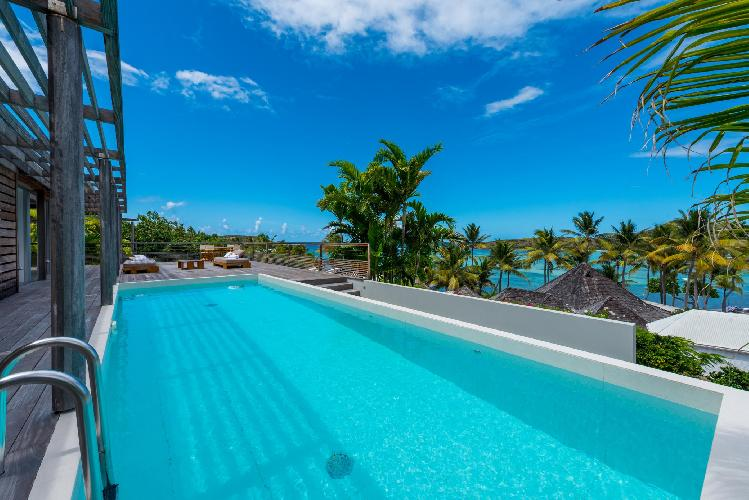 cool swimming pool of Saint Barth Villa Sereno 2 luxury holiday home, vacation rental