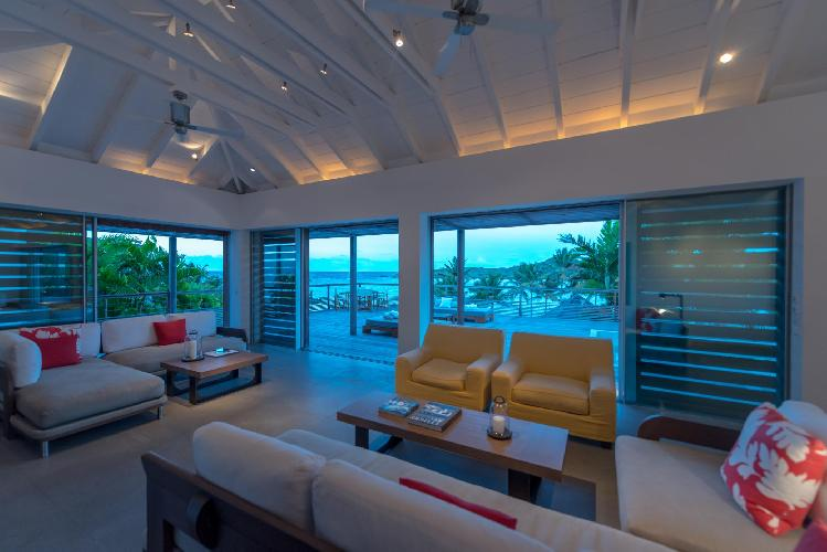 beautiful waterfront Saint Barth Villa Sereno 2 luxury holiday home, vacation rental