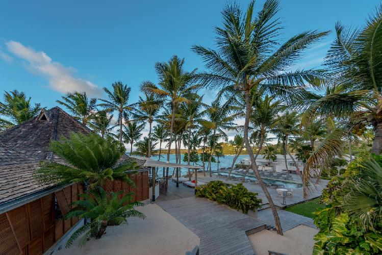 lush surroundings of Saint Barth Villa Sereno 2 luxury holiday home, vacation rental
