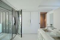 cool shower area in Saint Barth Villa Dunes luxury holiday home, vacation rental