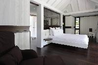 pristine bedding in Saint Barth Villa Dunes luxury holiday home, vacation rental
