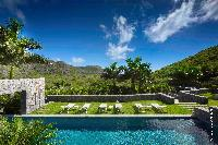 fun poolside of Saint Barth Villa Dunes luxury holiday home, vacation rental