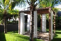 lush garden of Saint Barth Villa Dunes luxury holiday home, vacation rental