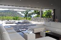 cool veranda of Saint Barth Villa Dunes luxury holiday home, vacation rental