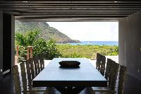 pleasant dining area in Saint Barth Villa Dunes luxury holiday home, vacation rental