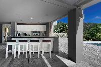 cool lanai of Saint Barth Villa Dunes luxury holiday home, vacation rental