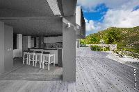 cool patio of Saint Barth Villa Dunes luxury holiday home, vacation rental