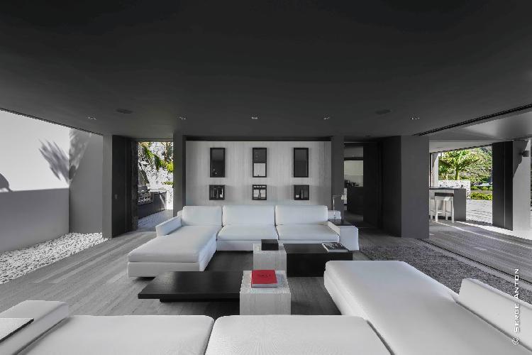 pleasant living room of Saint Barth Villa Dunes luxury holiday home, vacation rental