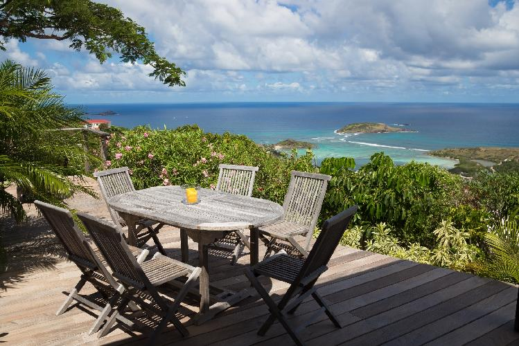 marvelous sea view from Saint Barth Villa Manonjul 1 luxury holiday home, vacation rental