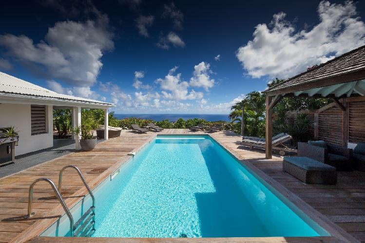 impressive pool of Saint Barth Villa Manonjul 1 luxury holiday home, vacation rental
