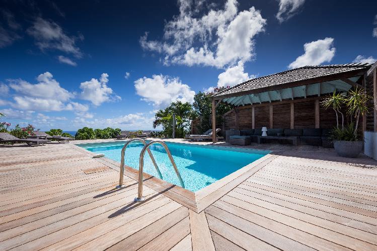 cool deck of Saint Barth Villa Manonjul Estate luxury holiday home, vacation rental