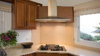 neat kitchen of Saint Barth Villa The Panorama Estate luxury holiday home, vacation rental