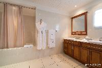 elegant bathroom in Saint Barth Villa The Panorama Estate luxury holiday home, vacation rental