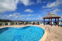 impressive poolside of Saint Barth Villa The Panorama Estate luxury holiday home, vacation rental