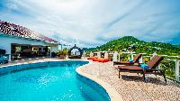 cool swimming pool of Saint Barth Villa The Panorama Estate luxury holiday home, vacation rental