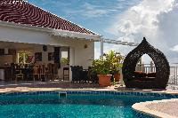 amazing poolside of Saint Barth Villa The Panorama Estate luxury holiday home, vacation rental