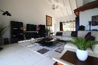 cool sitting room of Saint Barth Villa The Panorama Estate luxury holiday home, vacation rental