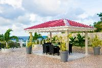 cool pagoda of Saint Barth Villa The Panorama Estate luxury holiday home, vacation rental