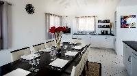 cool dining room of Saint Barth Villa The Panorama Estate luxury holiday home, vacation rental