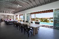 cool dining room of Saint Barth Villa Sereno 1 luxury holiday home, vacation rental