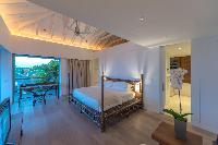 clean bedroom linens in Saint Barth Villa Sereno 1 luxury holiday home, vacation rental