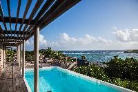 cool deck of Saint Barth Villa Sereno 1 luxury holiday home, vacation rental