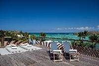 cool poolside of Saint Barth Villa Sereno 1 luxury holiday home, vacation rental