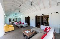 cool living room of Saint Barth Villa Sereno 1 luxury holiday home, vacation rental
