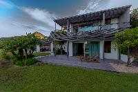 lovely garden of Saint Barth Villa Sereno 1 luxury holiday home, vacation rental