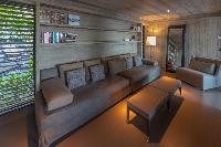 cool sitting area in Saint Barth Villa Sereno 1 luxury holiday home, vacation rental