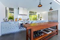cool kitchen of Saint Barth Villa Sereno 1 luxury holiday home, vacation rental