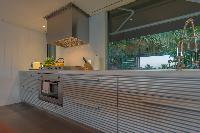 modern kitchen appliances in Saint Barth Villa Sereno 3 luxury holiday home, vacation rental