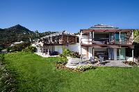 beautiful lawn of Saint Barth Villa Sereno 3 luxury holiday home, vacation rental