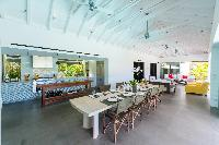 cool dining room of Saint Barth Villa Sereno 3 luxury holiday home, vacation rental