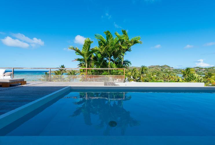 beautiful pool of Saint Barth Villa Sereno 3 luxury holiday home, vacation rental