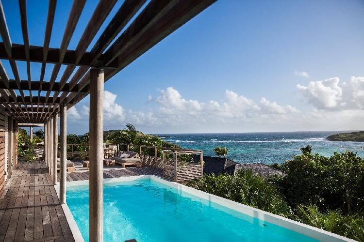 amazing sea view from Saint Barth Villa Sereno 3 luxury holiday home, vacation rental