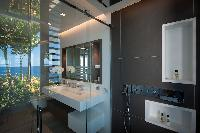 clean bathroom in Saint Barth Villa Axel Rocks luxury holiday home, vacation rental