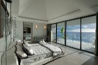 fresh bedroom linens in Saint Barth Villa Axel Rocks luxury holiday home, vacation rental