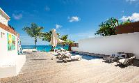 incredible seaside deck of Saint Barth Luxury Villa Ganesha holiday home, vacation rental
