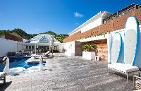cool swimming pool of Saint Barth Luxury Villa Ganesha holiday home, vacation rental