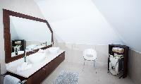 clean toilet and bath in Saint Barth Luxury Villa Ganesha holiday home, vacation rental