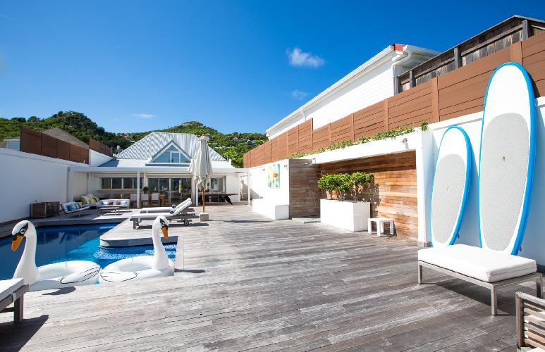 cool swimming pool of Saint Barth Luxury Villa Ganesha holiday home, vacation rental