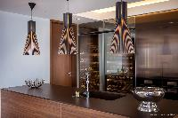swanky kitchen of Saint Barth Villa Legends B luxury apartment, holiday home, vacation rental
