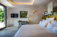 crisp bed sheets in Saint Barth Villa Legends B luxury apartment, holiday home, vacation rental