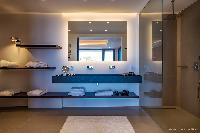 clean toilet and bath in Saint Barth Villa Legends B luxury apartment, holiday home, vacation rental